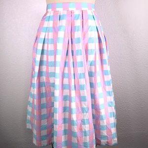 Magnolia Park Candy Pastel Midi Skirt